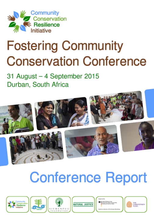 Cover CCRI Conference report