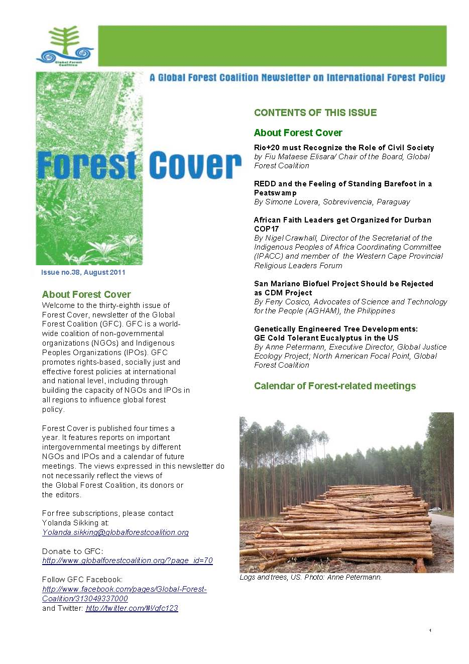 Newsletter of the GFC