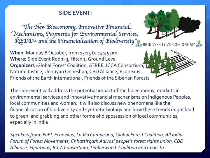 Side Event - New Bioeconomy and Financialization of nature
