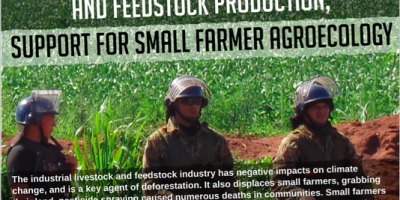 Struggle against industrial livestock and feedstock production; Support for small farmer agroecology