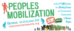 People's mobilization - Geneva 24-29 October 2016 - soptcorporateimpunity.org