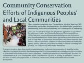 Poster: GFC contribution of community conservation to the implementation of the Aichi Targets