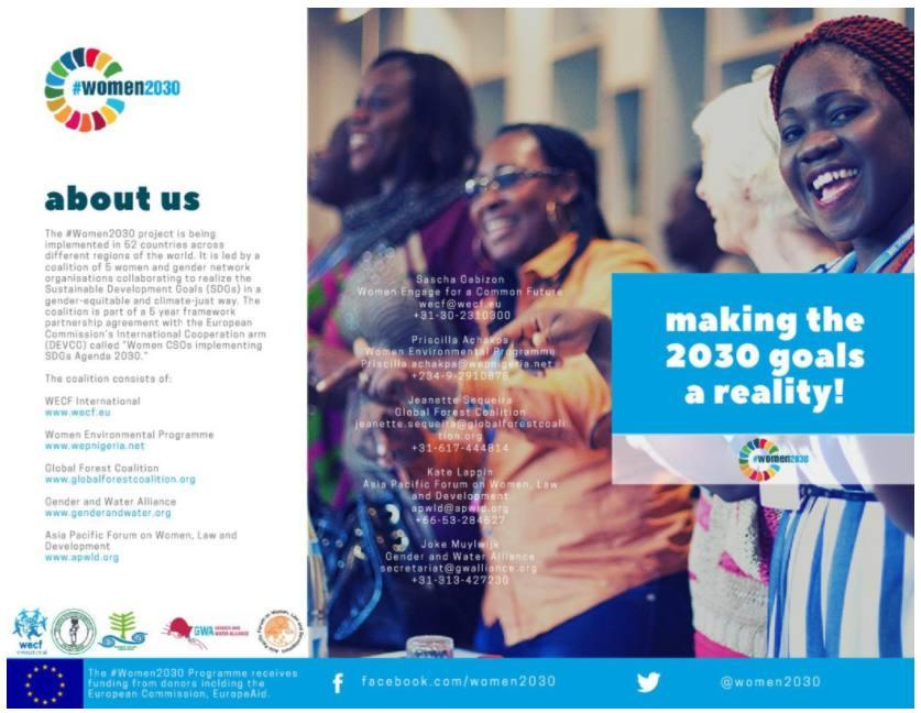 women2030 brochure