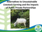 Alternatives to Unsustainable Livestock Farming and the impacts of Public Private Partnerships
