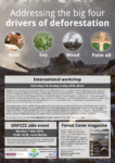 The big four drivers of deforestation: events in Bonn, May 2018