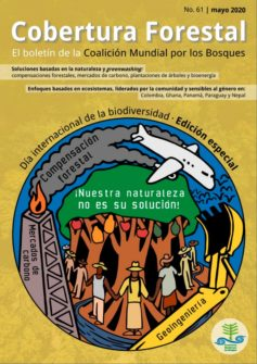 Cover of Cobertura Forestal 61: #OurNatureIsNotYourSolution, Día internacional de la biodiversidad