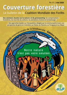 Cover of Couverture forestière 61: #OurNatureIsNotYourSolution, Journée internationale de la biodiversité