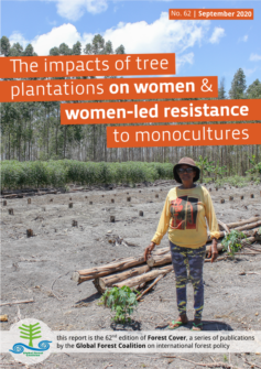 Cover of The impacts of tree plantations on women & women-led resistance to monocultures