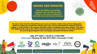 Smoke and Mirrors: How the UNFSS is promoting corporate food systems and other false solutions; the case of industrial livestock production and nature-based solutions